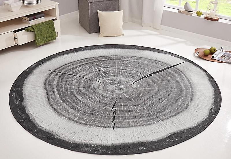 Alvorlig Design velour tæppe tree trunk træ runde grå | Fruugo SG43