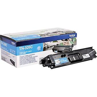 Brother Tonercartridge TN-326C TN326C Original Cyan 3500 Side