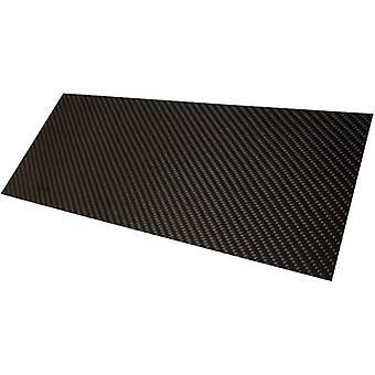 Carbon fibre panel Carbotec (L x W) 350 mm x 150 mm 2 mm