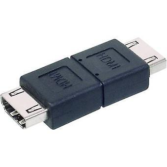מתאם HDMI דיגיטלי [1x HDMI שקע-1 x שקע HDMI] שחור