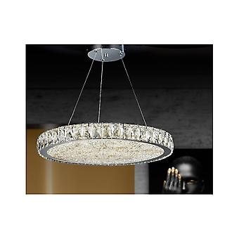 Schuller Dana Luxury Circular Crystal Ceiling Dimmable Pendant, 49cm