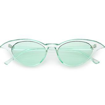 نظارات العين القط الرجعية شفافة لون العدسة الملونة 52 مم