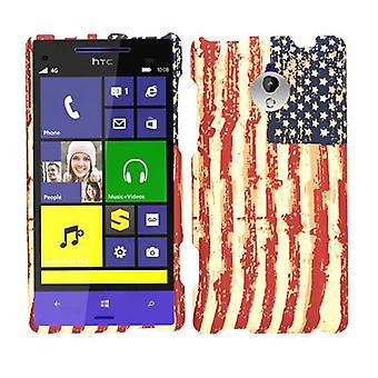 Ilimitada celular Snap-no caso para HTC 8XT - bandeira EUA angustiado