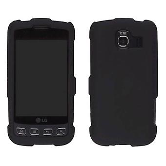 5 Pack -Two piece Soft Touch Snap-On Case for LG Optimus S LS670, Optimus U US670 - Black