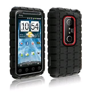 Technocel Sand-Cat Shield Cover for HTC EVO 3D - Black