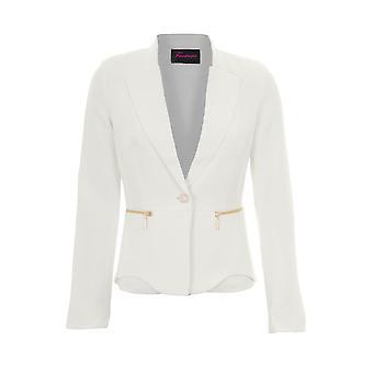 Длинный рукав дамы воротником низким V выстроились официальное отделение Zip подробно пиджак пиджак