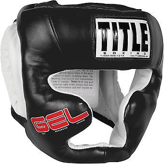 Titel boxning Gel världen Full Face utbildning huvudbonader - svart