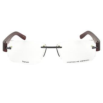 Porsche Design P8206 D Rectangular | Gunmetal/Dark Red| Eyeglass Frames