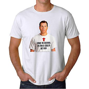 Married With Children Stay in School Men's White T-shirt