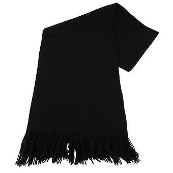 Bassin e Brown Dobson pianura lana sciarpa - nero