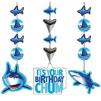 Shark shark party hanging decoration elements 3 piece shark shark party birthday decoration
