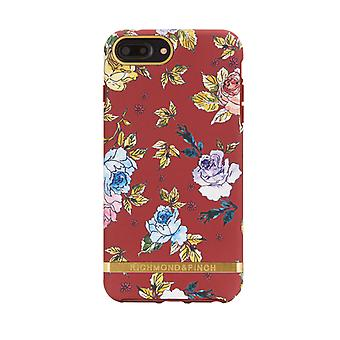 Richmond & Finch shells voor IPhone 6/7/8 plus-rode bloemen