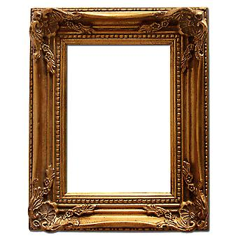 10x18 cm or 4x7 inch, gold Frame
