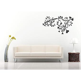 Barokk blomst og hjerte Design Wall klistremerke