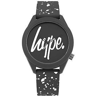 Hype | Mens Grey And White Print Silicone Strap | Grey Dial | HYG003BW Watch