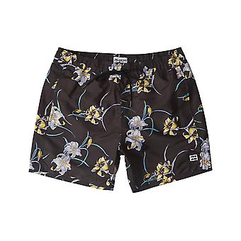 Billabong All Day Floral Elasticated Boardshorts in Black