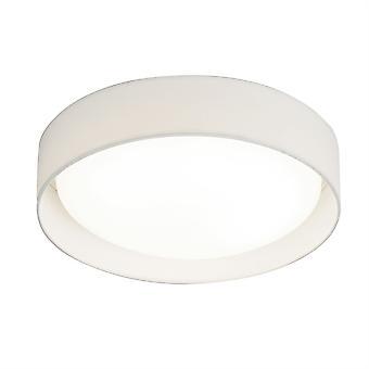 Moderne un léger rond LED Flush avec abat-jour blanc - projecteur 9371-37WH