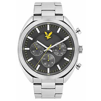 Lyle & Scott Mens Tevio XE rostfritt stål armband grå urtavla LS-6016-11 klocka