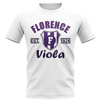 Fiorentina gevestigde voetbal T-Shirt (wit)