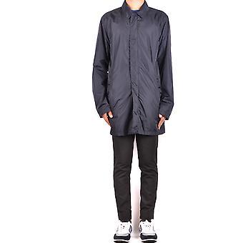 Aspesi Ezbc067081 Men's Blue Nylon Outerwear Jacket