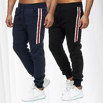 Men's Jogging Sports Trousers Sweat Pants Activewear Bottoms Stripes Track Pants
