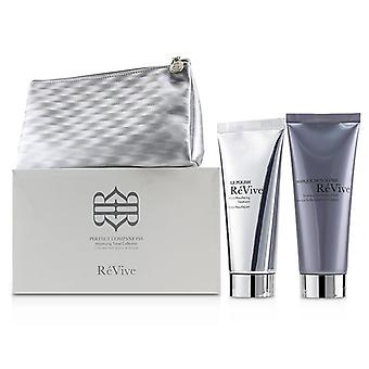 Revive Perfect Companions Volumizing Travel Collection: Sculpting And Firming Mask 75g + Micro-resurfacing Treatment 75g - 2pcs+1bag