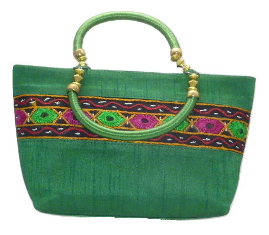 Silk Handbag Divya 13 Silk Sauvage at Pashmina & Silk