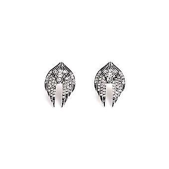 Trendy Abstract Punk Winged Dove Stud Earrings