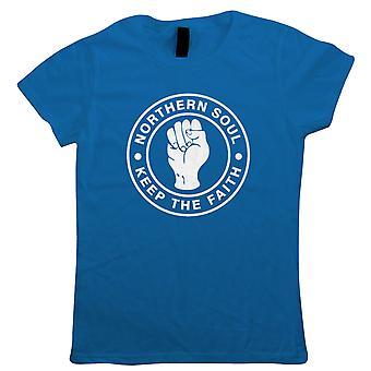 Halten Sie den Glauben Womens T-Shirt, Northern Soul MOD - Musik Geschenk ihre Mutter
