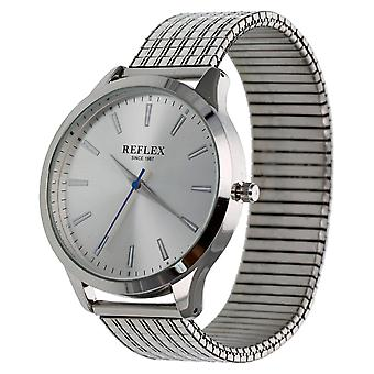 Reflex Mens Analogue Classic Quartz Watch with Stainless Steel Strap REFX0001