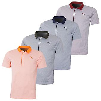 Puma Golf Herren Diamant Jacquard Golf Wicking Stretch Polo Shirt