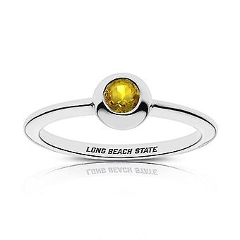California State U-Long Beach Sapphire ring i sterling sølv design af BIXLER