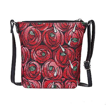 Mackintosh - rose and teardrop shoulder sling bag by signare tapestry / sling-rmtd