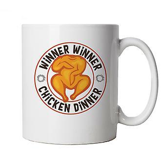 Vencedor vencedor Chicken Dinner PUBG, Caneca - Presente da Copa de Jogos
