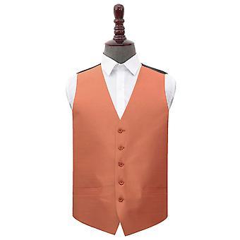 Kobber Plain shantung bryllup vest