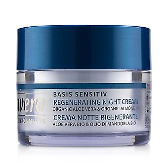 Lavera Basis Sensitiv Regenerating Night Cream - Organic Aloe Vera & Organic Almond Oil (for All Skin Types) - 50ml/1.6oz
