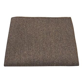 Highland Weave Hessian Brown Pocket Square, Handkerchief