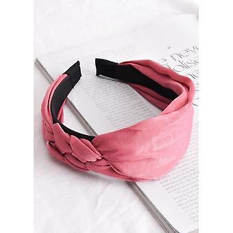 Satin Braided Detail Headband Pink