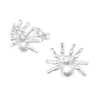 Spinne - 925 Sterling Silber Plain Ohrstecker - W11539X