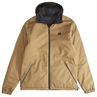 Billabong Men's Reversible Puffer Jacket ~ Transport 10K Revo clay