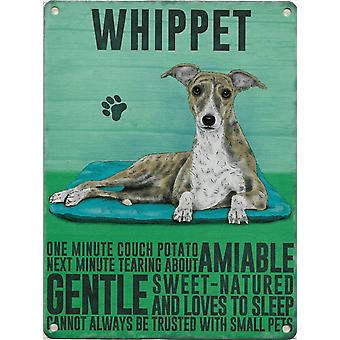 Medium Wall Plaque 200mm x 150mm - Whippet by The Original Metal Sign Co