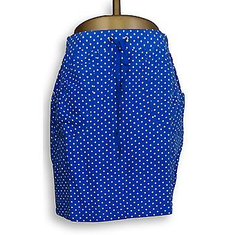 Susan Graver Women's Shorts Printed French Terry Skort Blue A232818