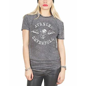 Răzbunat Sevenfold tricou DeathBat Band logo oficial unisex Burnout Slim Fit