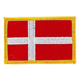 التصحيح Ecusson برود العلم الدنمارك الدنماركية الشارة الحرارية بلاسون