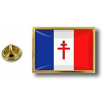 Pins Pin Badge Pin's Metal  Pince Papillon Drapeau Franc Libre De Gaulle