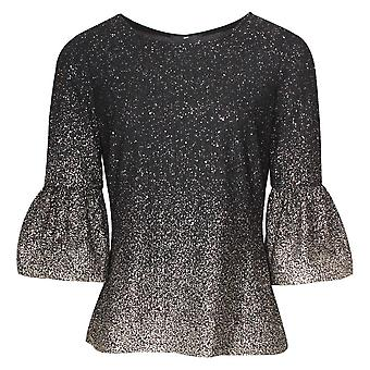 Frank Lyman Bell Sleeve metallic uitgerust top