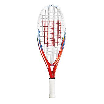Wilson US Open Junior Tennis Racket Racquet White/Blue/Red (No Headcover) - 21