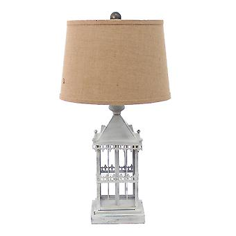 """15"""" x 12"""" x 25.75"""" Gray Country Cottage Castle - Table Lamp"""