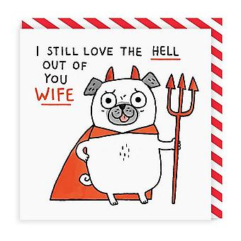 Ohh Deer Love The Hell Out Of You Wife Square Greeting Card