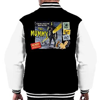 Hammer Horror Films Mummy Fear Will Freeze You Men's Varsity Jacket